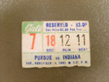 IU Football Ticket Stub