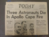 """Three Astronauts Die in Apollo Cape Fire"""
