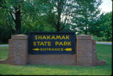 Entrance sign for Shakamak State Park