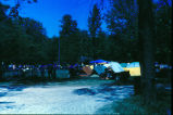 Motorcyclists at group camp
