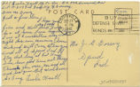 Postcard from Leslie Kastl to Mr. J. G. Dorsey, September 27, 1942.