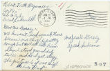 Postcard from Robert Keith Regan to Mr. Jessie Dorsey, June 20, 1943.