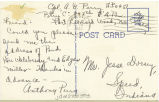 Postcard from Anthony G. Perry to Mr. Jesse Dorsey, June 28, 1943.