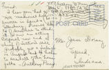 Postcard from Anthony G. Perry to Mr. Jesse Dorsey, June 3, 1943.