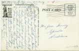 Postcard from Marion E. Henson to Mr. Jesse Dorsey, October 8, 1943.