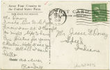 Postcard from Thomas Randall Hauck to Mr. Jesse G. Dorsey, September 1, 1942.