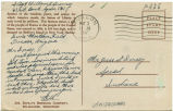 Postcard from William Guernsey to Mr. Jesse Dorsey, May 3, 1943.