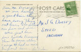 Postcard from Lee Fisher to Mr. J. G. Dorsey, December 22, 1941.