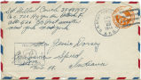 Letter from Gilbert F. Couch to Mr. Jessie Dorsey, February 21, 1944.