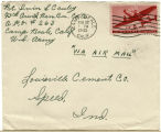 Letter from Irvin L. Cauley to Louisville Cement Co., February 21, 1943.