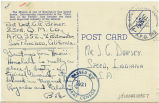 Postcard from Bob Briner to Mr. J. G. Dorsey, June [?] 20, 1942.
