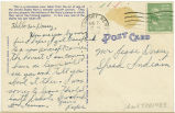 Postcard from [Marion] Pope to Mr. Jesse Dorsey, August 21, 1943.
