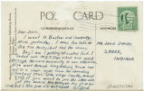 Postcard from Clifford R. Leap to Mr. Jessie Dorsey, September, 1943.