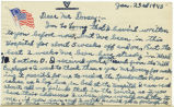 Postcard from Lareau E Grubbs to Mr. Jesse Dorsey, January 25, 1943.