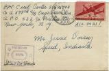 Letter from Cecil Carter to Mr. Jessie Dorsey, April 6, 1944.