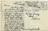 Postcard from Jim and Mozelle Carlile to Mr. Jessie Dorsey, January 25, 1944.