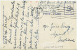 Postcard from Bennie Beyl to Mr. Jesse Dorsey, December 5, 1943.