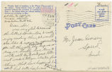 Postcard from Glen M. Applegate to Mr. Jesse Dorsey, January 23, 1943.