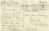 Postcard from Anthony G. Perry to Mr. Jess Dorsey, April, 1943.