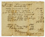 Cost Bill, Ezekiel Hayse vs. Isaac Veatch, 1820 April