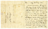 Letter, William Barbee, Troy (Ohio), to Benjamin F. Stickney, 1821 February 28