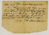 Ferry Permit, Worden Pope to John Tipton, 1810 October [08]