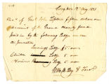 Receipt, William H. Lilly to John Tipton, 1821 May 12