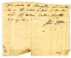 Due note, John Tipton to James B. Slaughter, 1823 May 8