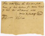 Due note, Moses Berklett to William H. St.Clair, 1824 March 18