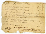 Receipted bill, Hugh Hanna to John Tipton, 1824 August 5