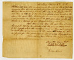 Statement, Meriwether Lewis and William Clark, St. Louis (Missouri), to John Shields, 1806 October...
