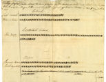 Tally sheet for election of officers, 5th regiment, Indiana militia, 1817 April 19