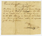 Order for election of justice of the peace, Corydon (Ind.), 1818 August 12