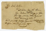 Financial request, M. Bradley to John Tipton, 1819 December 22