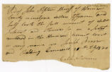 Receipt, Calib Newman to J. Tipton, 1820 February 25