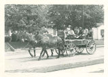 Brownsburg Centennial Parade: Mule team and Buggy