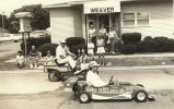 Jesse Davidson and his mini-mobile racers