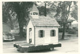 Brownsburg Centennial Parade: Schoolhouse float