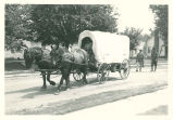 Brownsburg Centennial Parade: Covered wagon