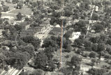 Aerial photograph, downtown Brownsburg