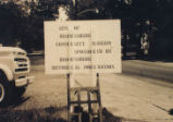 Brownsburg's Historical Foundation sign by David Scudder.