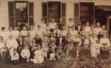 Moore Family at John Moore homestead- Pike Township, Marion County, IN.