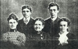 Nancy Barnhill Lewis Family  (left to right): Chester and Bessie Lewis, Nancy Barnhill Lewis, and...