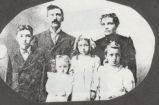 Santford and Cora Ennis and their children.  (left to right:)  Clarence, Josephine, Edna, and...