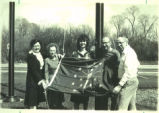 Brownsburg Public Library of Brownsburg, Indiana received replacement flags thanks to cooperative...