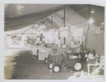 Tractor Display at Arbuckle Acres in tent.