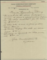 Bid for Construction of Brownsburg Public Library 1916