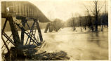 [1913 Flood] Big Four railroad bridge collapse