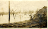 [1913 Flood] Anderson, Ind., 9th Street Bridge