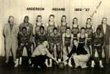 Anderson High School Basketball Team, 1956-57